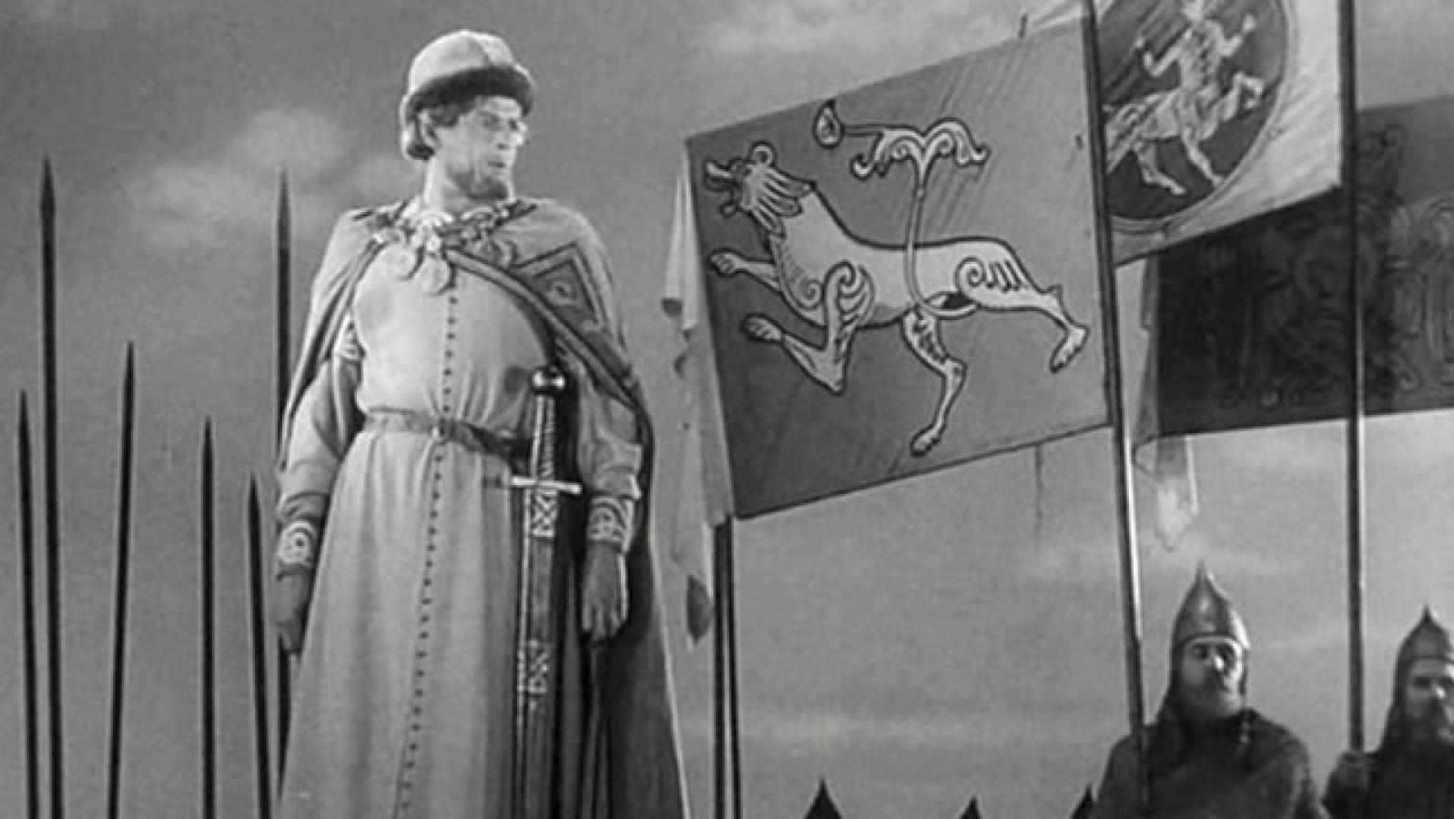 Кадры из фильма «Александр Невский». Сражение на Чудском озере.