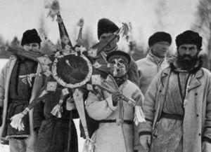 Рождественские обходы дворов пастухом в Рамонском районе Воронежской области
