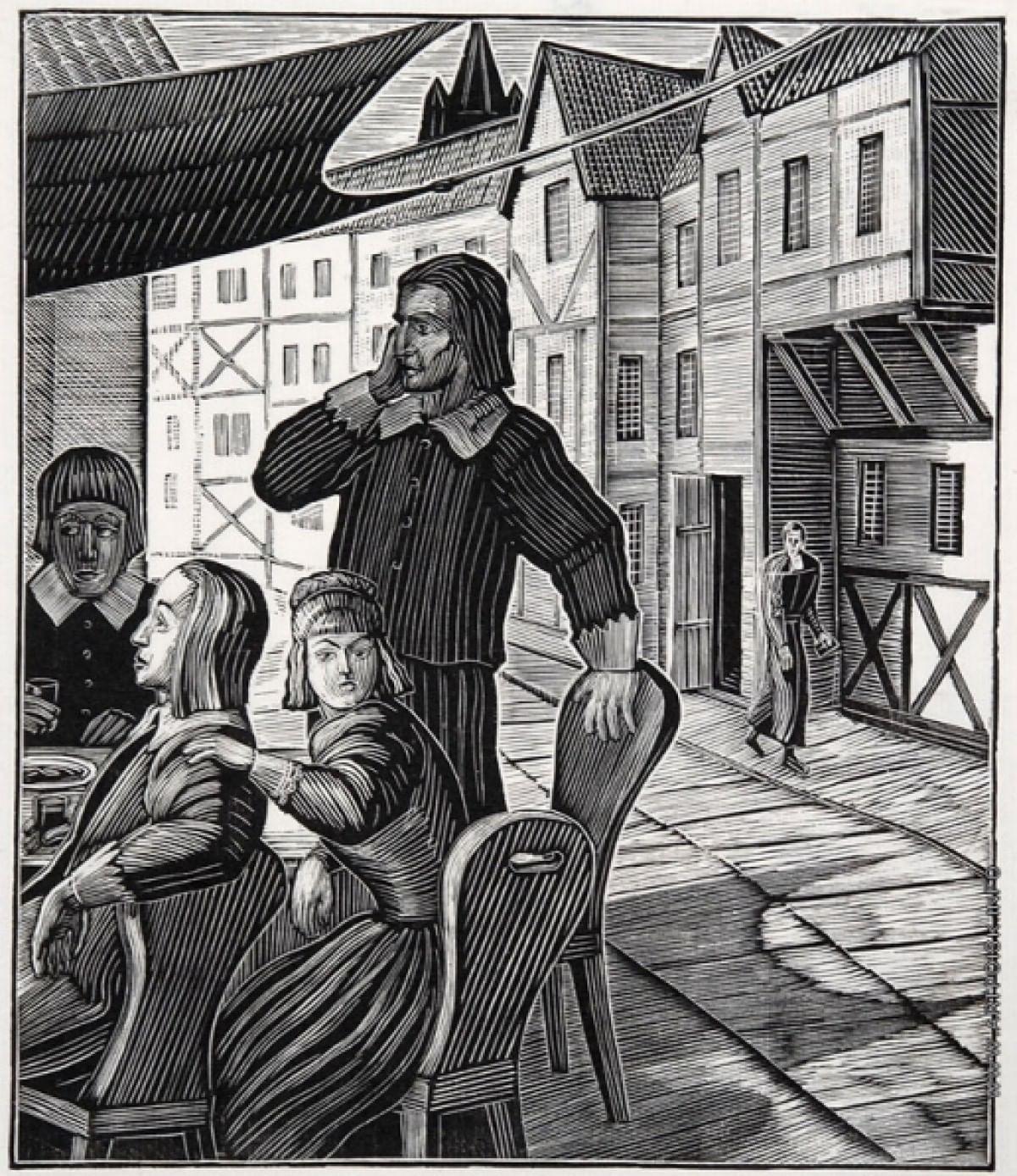 Зарисовки В.А.Фаворского к «Маленьким трагедиям»