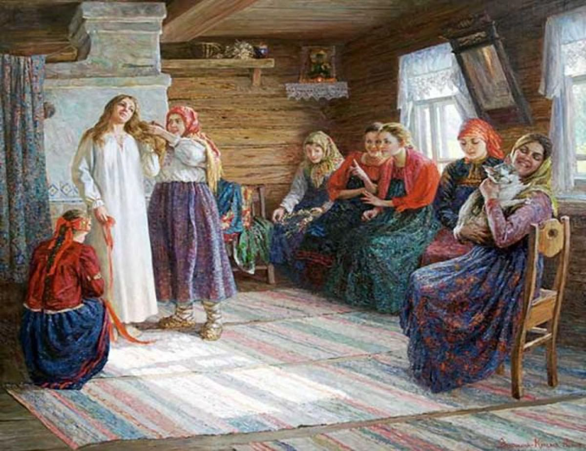 Символ девичьей красы. Плетение кос на Руси_3