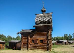 Храм Иконы Божией Матери Казанская из Илимска в поселке Тальцы Иркутской области