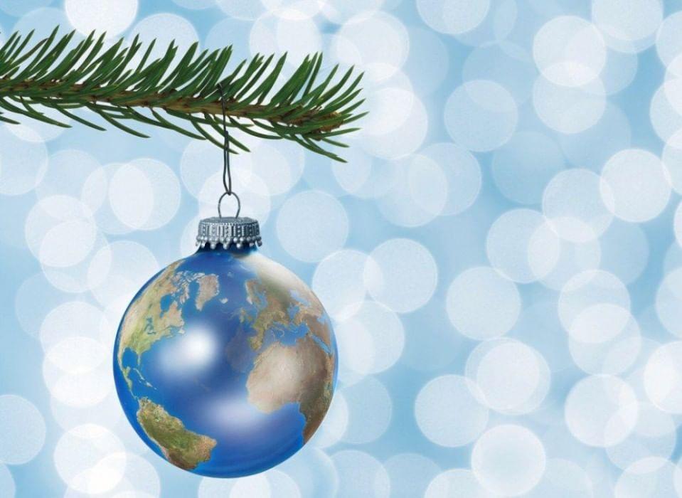 Географические открытки с новым годом