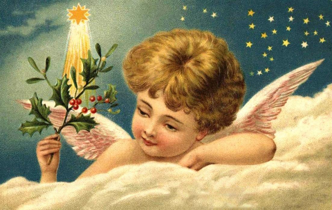 Юбилеем свату, открытки 20 века ангелы