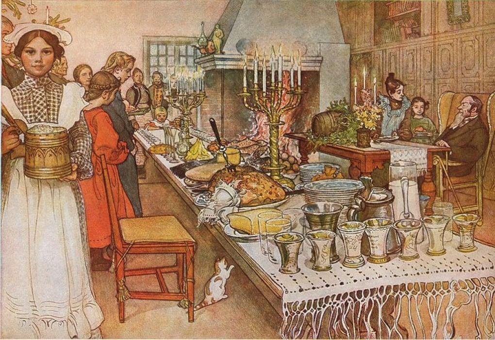 что картинки рождественского стола в старину называли хлебосолкой вызывают