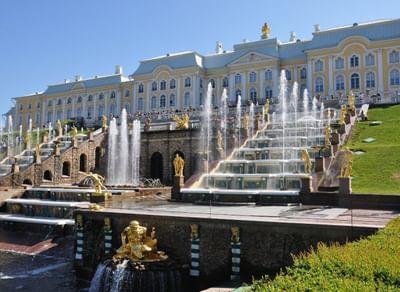 Большой дворец и Большой каскад в Петергофе