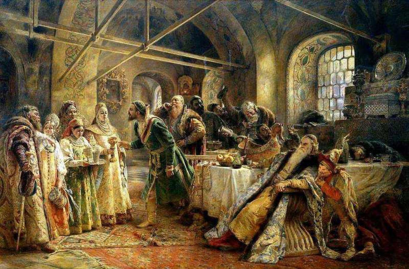 Блюда новогоднего застолья на Руси