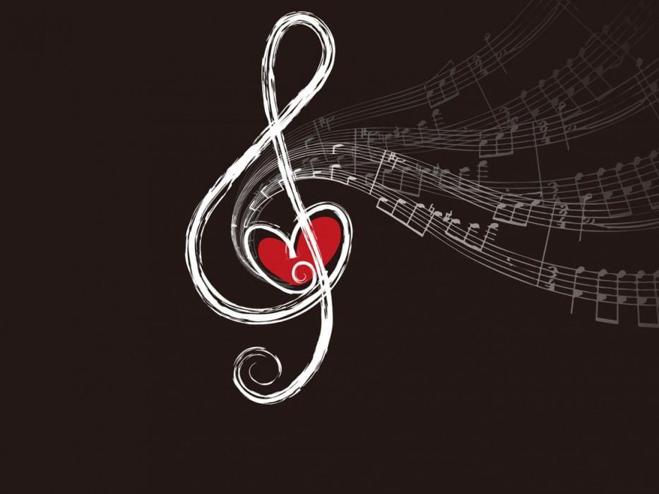 Открытка я люблю музыку