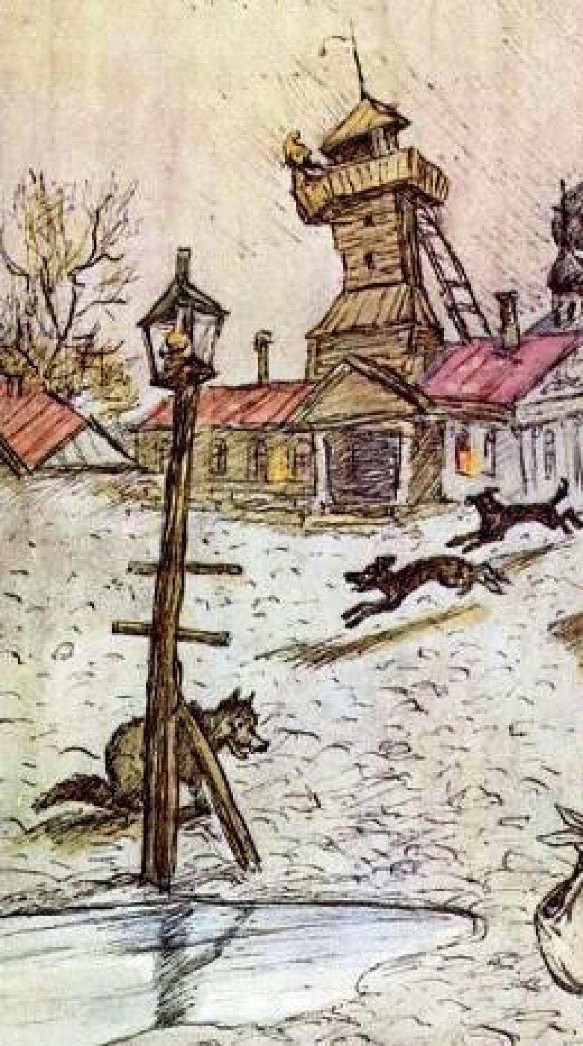 Иллюстрации к сказкам М.Е. Салтыкова-Щедрина