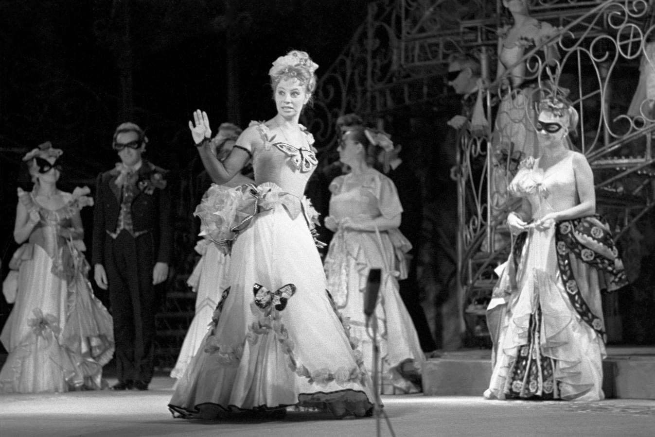 Оперетта «Летучая мышь». Московский государственный академический театр оперетты, 1974 год. Фотография: ТАСС