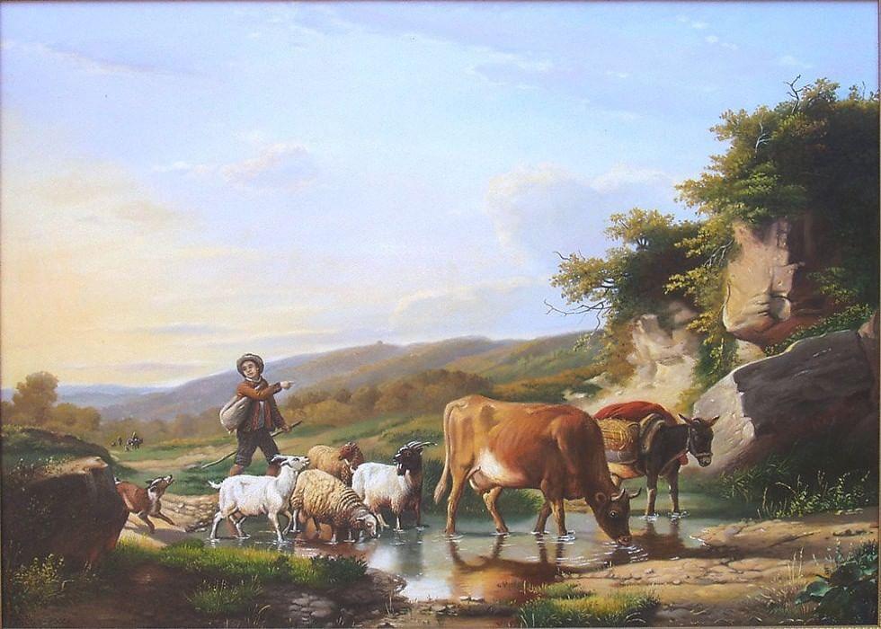 картинки пастухов и пастушек того как научились