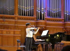 Участники I Международного конкурса скрипачей Владимира Спивакова. Часть 1