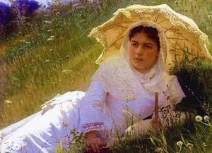 Зонт на картинах русских художников