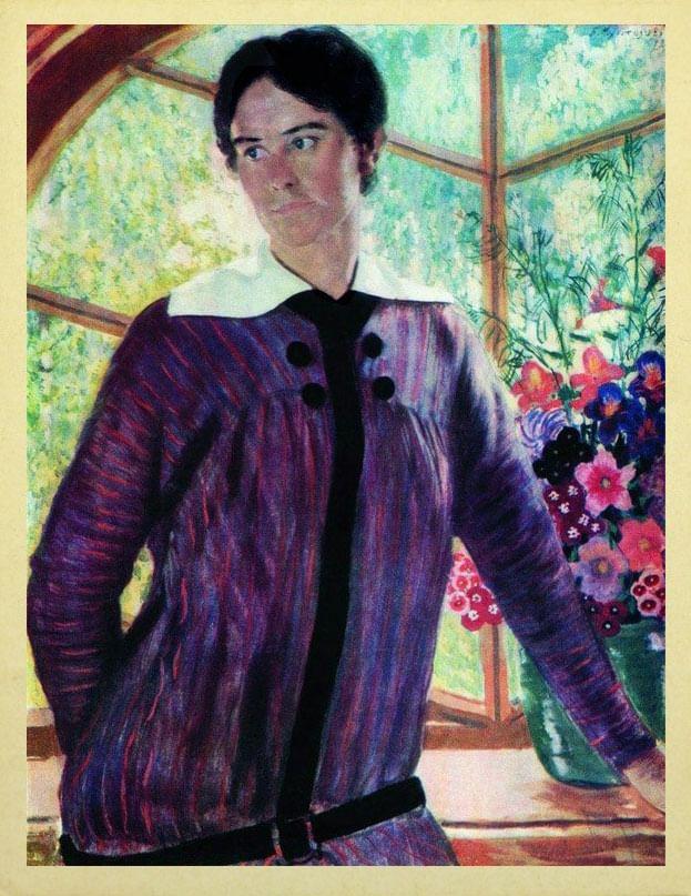 Б. Кустодиев. Портрет Ю.Е. Кустодиевой. 1915. ГРМ