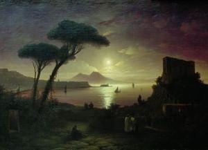 Иван Айвазовский. «Неаполитанский залив в лунную ночь»