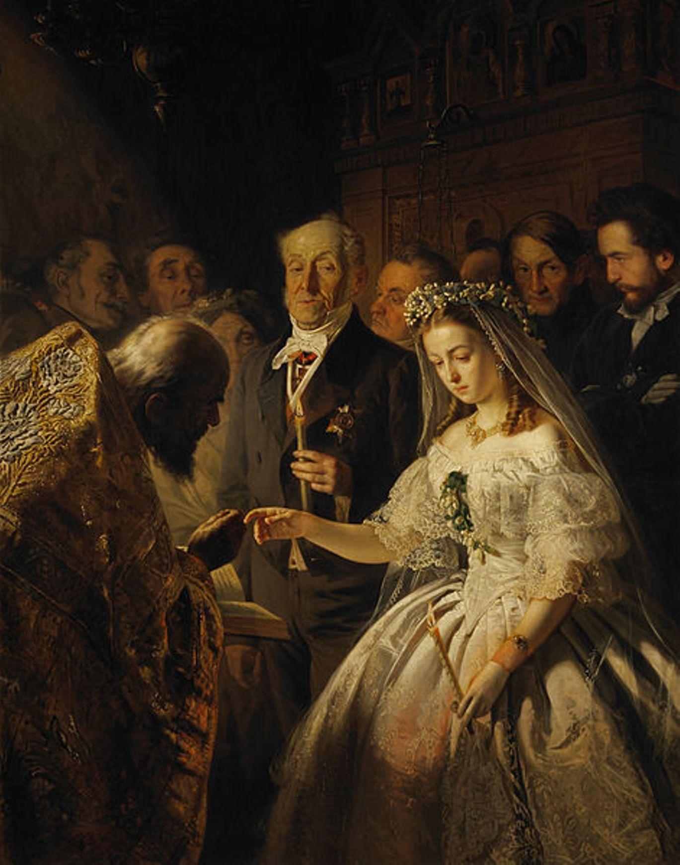 Печальные невесты в русской живописи. Галерея 1