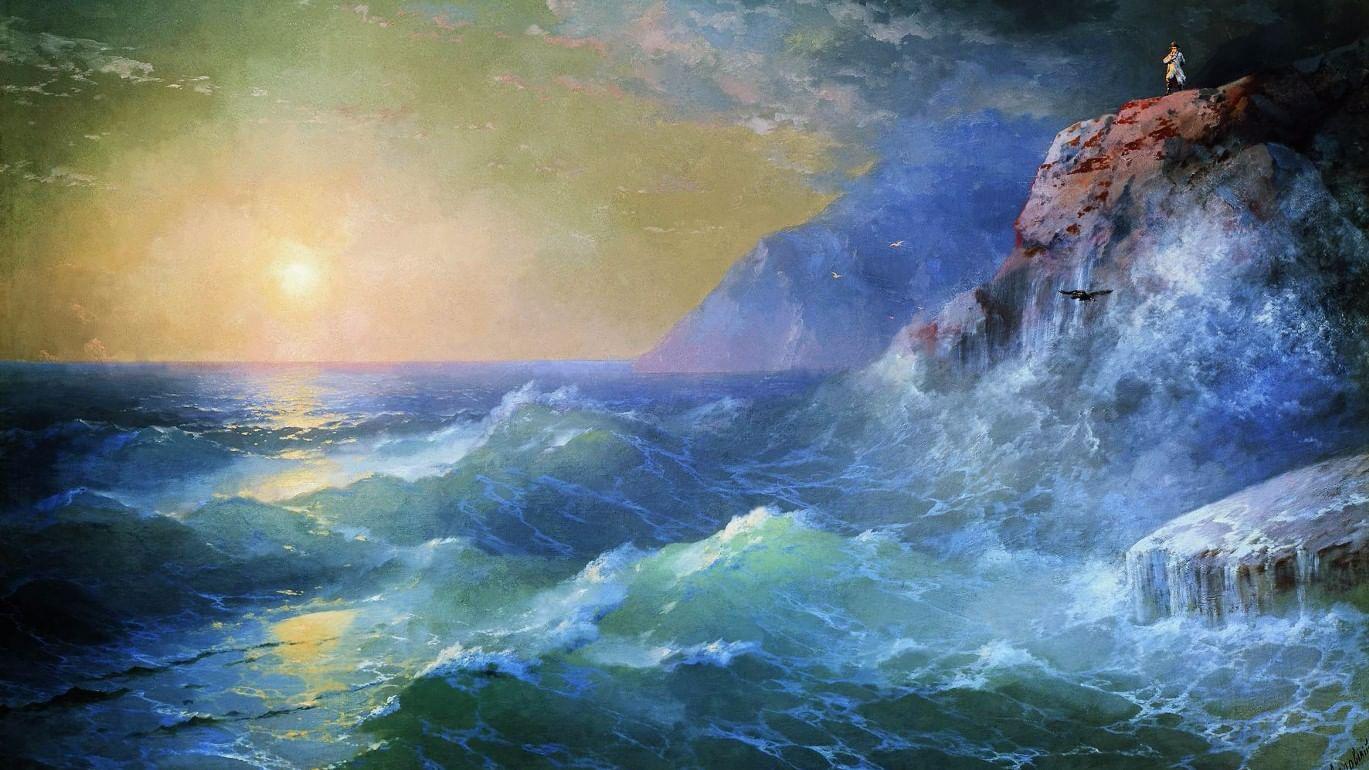 художник и море картинки желательно, чтоб это
