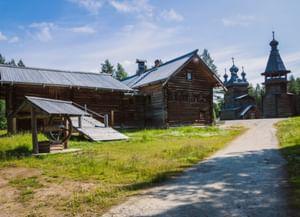 Архитектурно-ландшафтная экспозиция в деревне Малые Карелы
