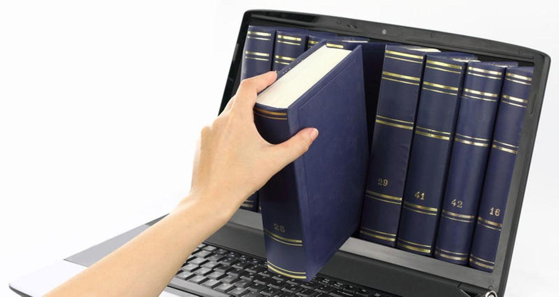Книга и компьютер в картинках