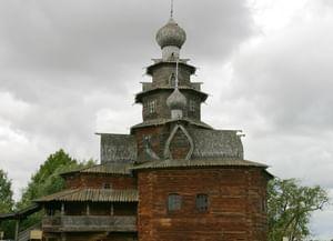 Храм Преображения Господня из Козлятьево в Музее деревянного зодчества в Суздале