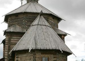 Храм Воскресения Словущего изПатакино вМузее деревянного зодчества вСуздале