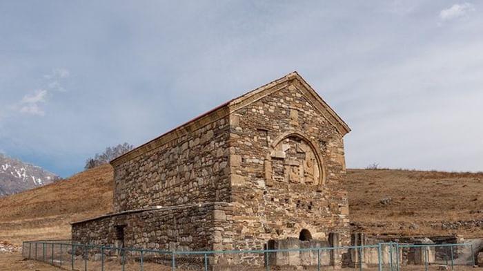 Храм у аула Хайрах в республике Ингушетия