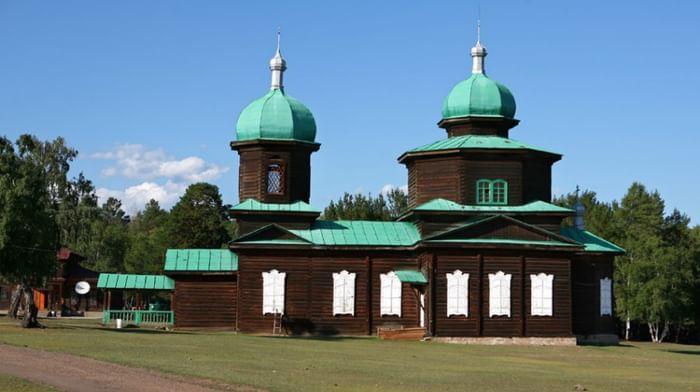Храм святителя Николая из с. Никольск в п. Верхняя Березовка под Улан-Удэ