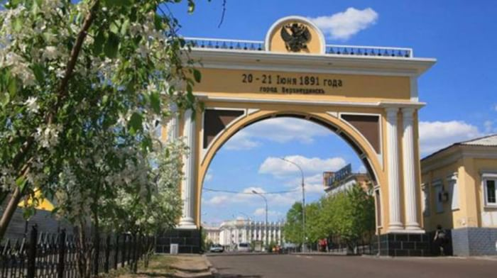 Триумфальная арка «Царские ворота» в Улан-Удэ