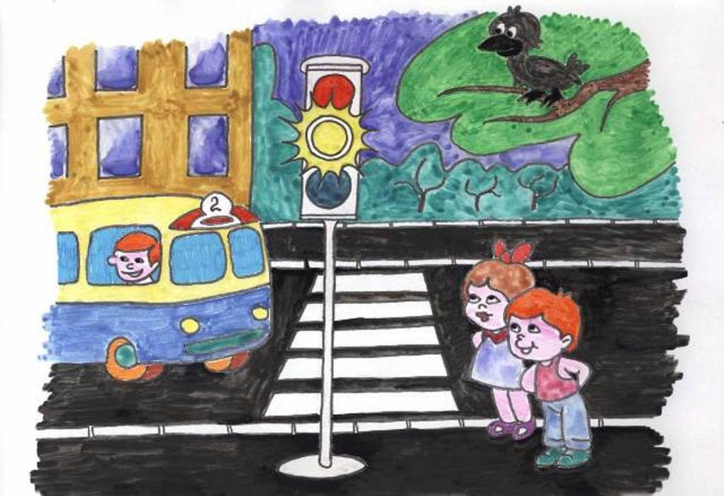 Картинки на тему дорожное движение для детей 7 лет, надписью днем