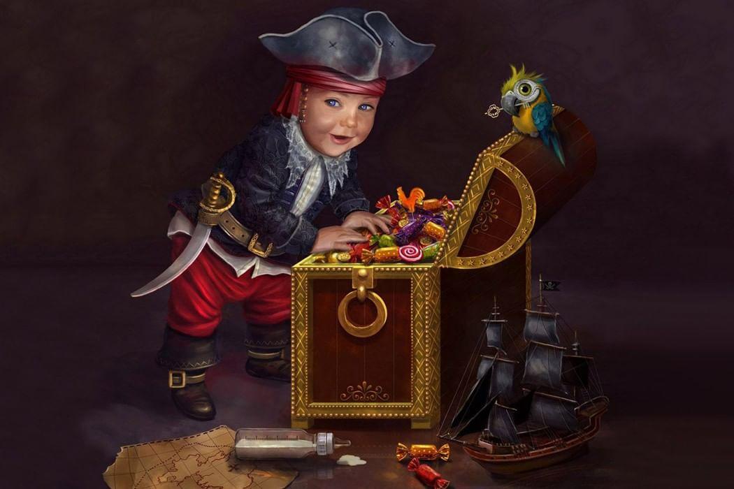 Картинка пираты и клад