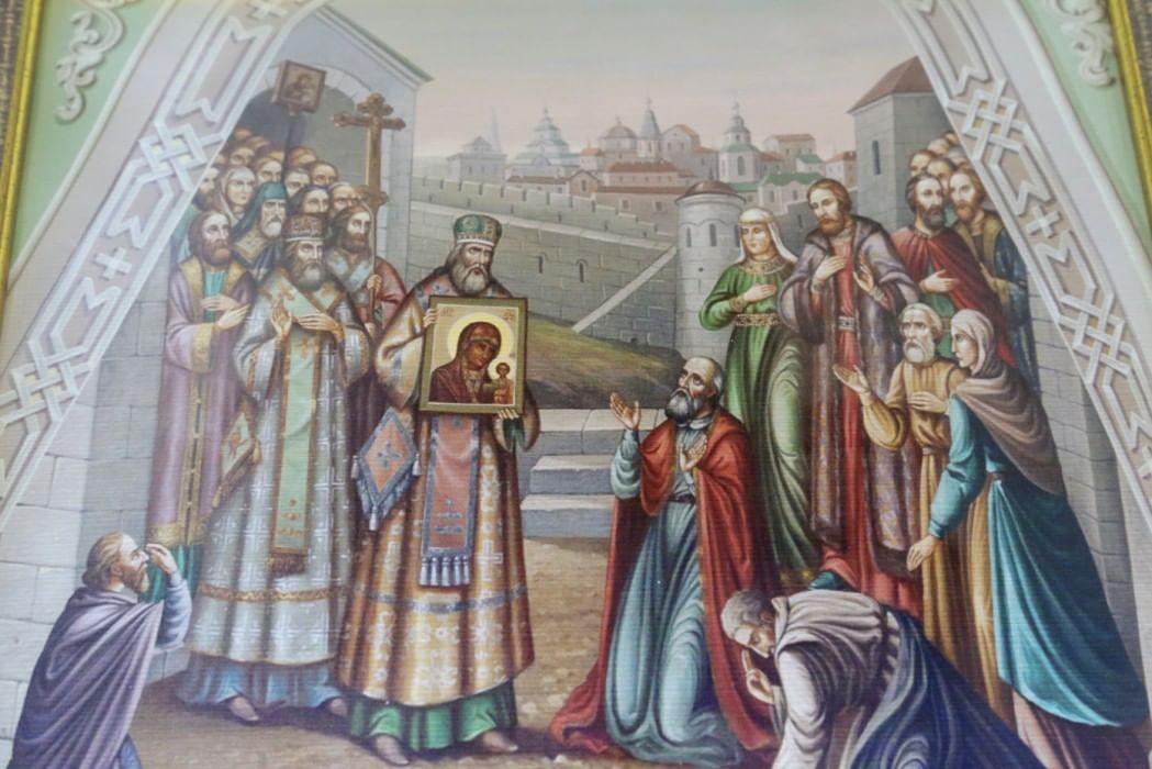 Обретение казанской иконы божьей матери картинки