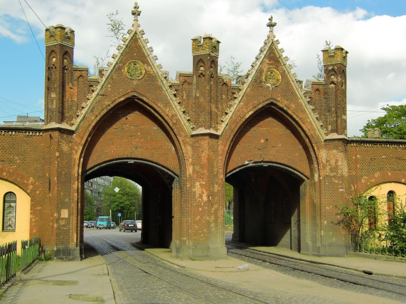 Бранденбургские ворота в Калининграде Единственные сохранившиеся