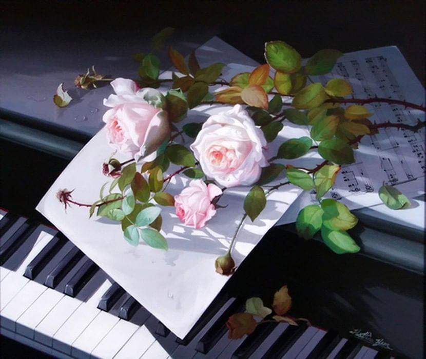 Картинка с днем рождения с пианино