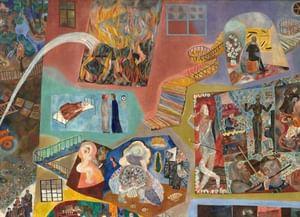 Музейный экспонат: «Дом в разрезе» из Ярославского художественного музея