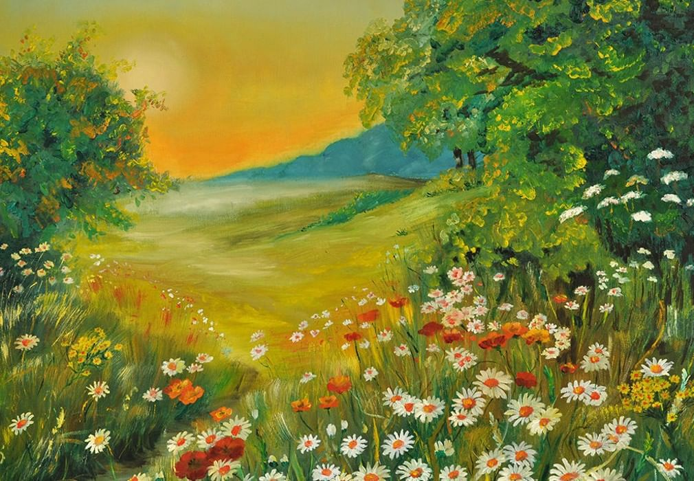 день картина лесная поляна легко крепится основанию