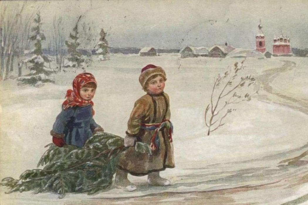 Русская открытка 19 век