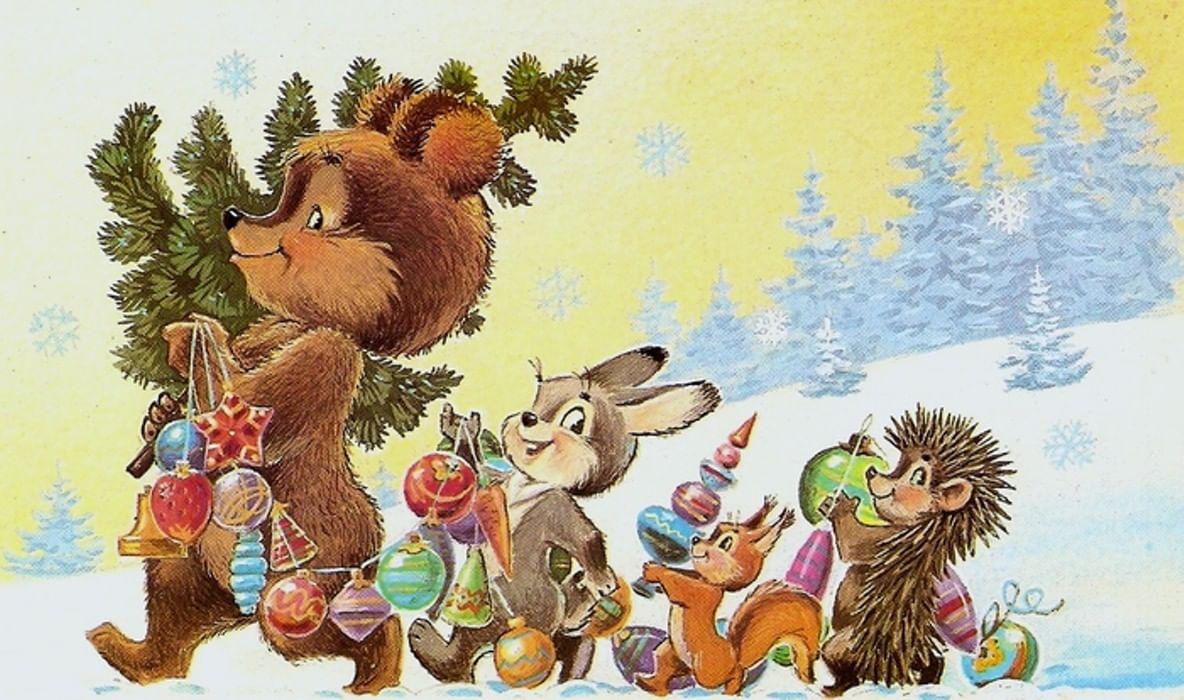 Советские открытки с животными, открытке влюбленным открытка
