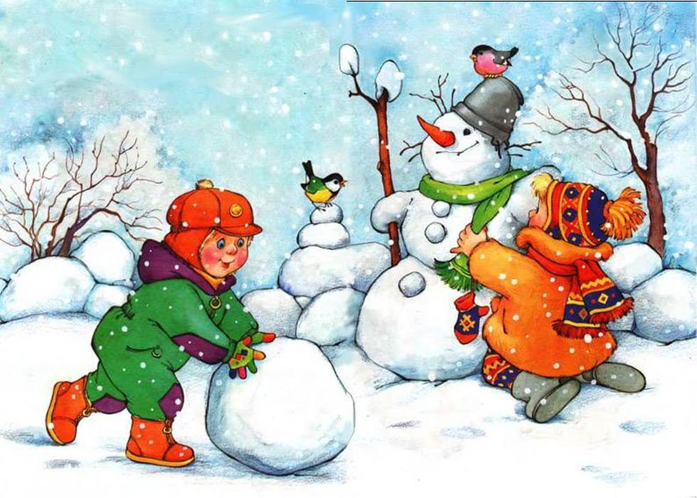 Рисунок на зимнюю тематику для детского сада, переписки