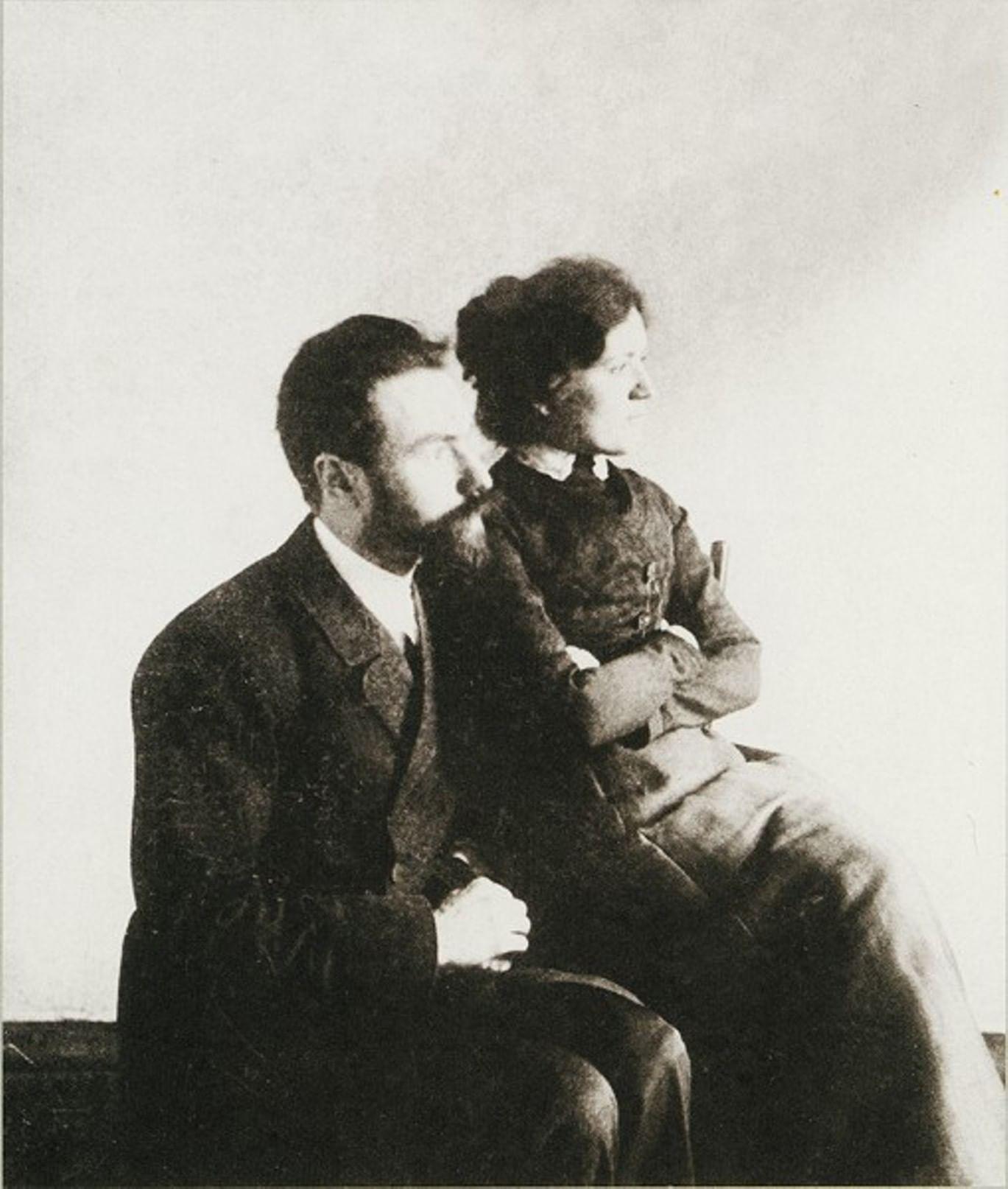 Валерий Брюсов с женой