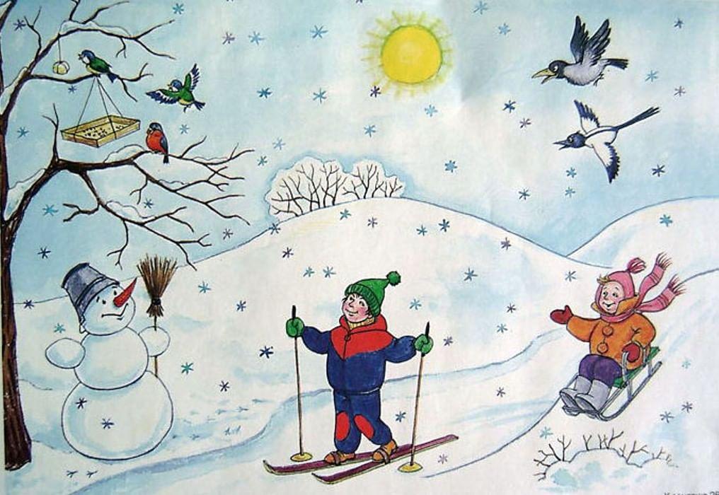 капучино рисунок на тему зимушка-зима центре