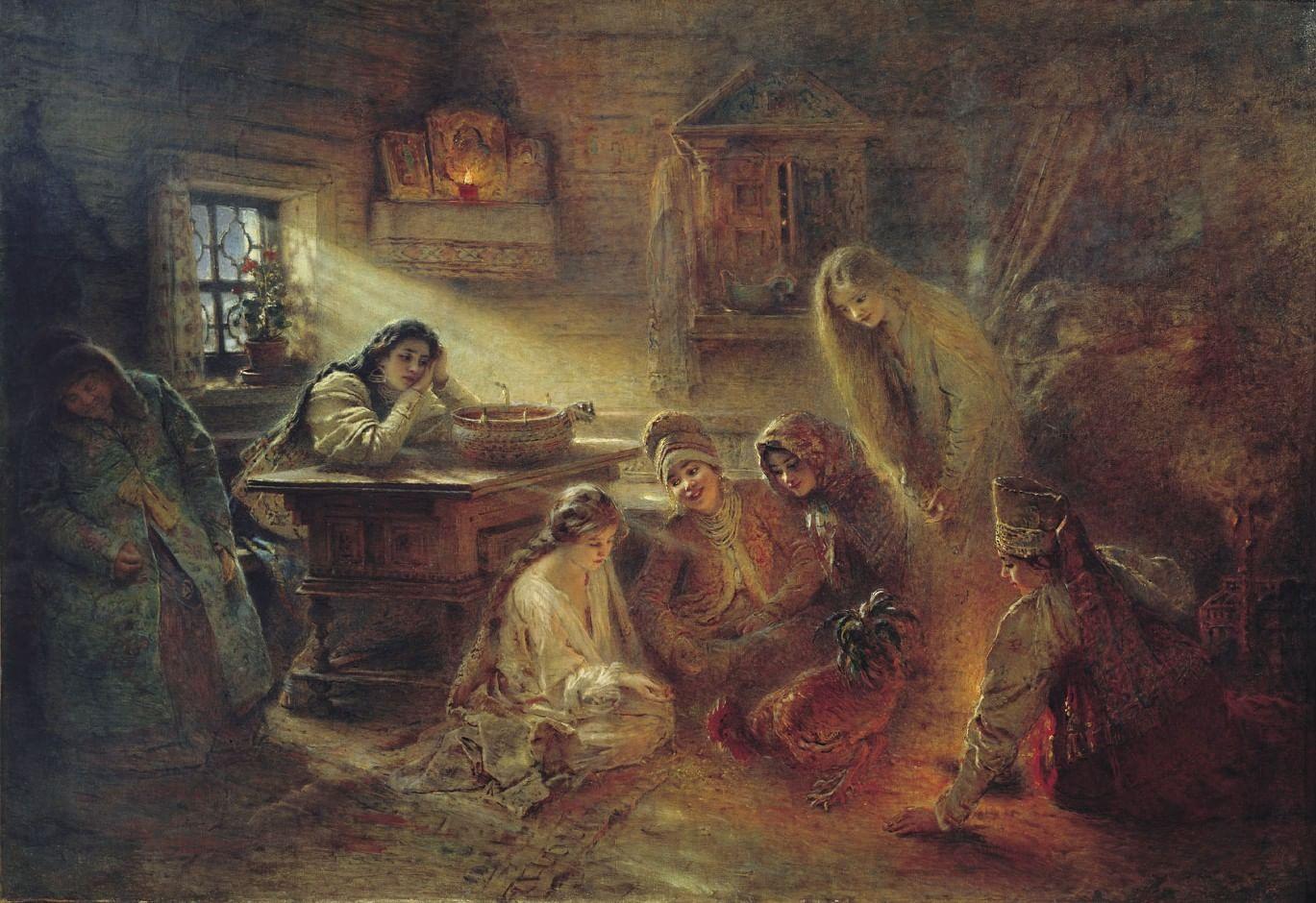 Как гадали на картинах русских художников. Галерея 4