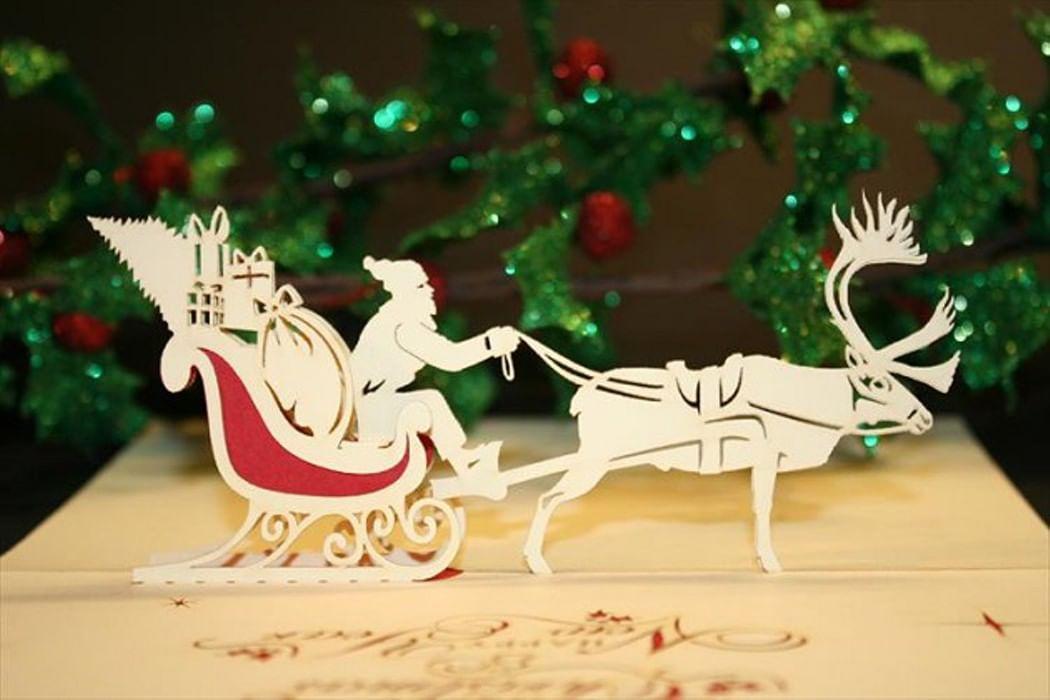 3д открытка на новый год дед мороз