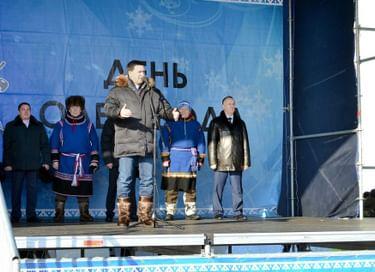 Открытие традиционных соревнований оленеводов