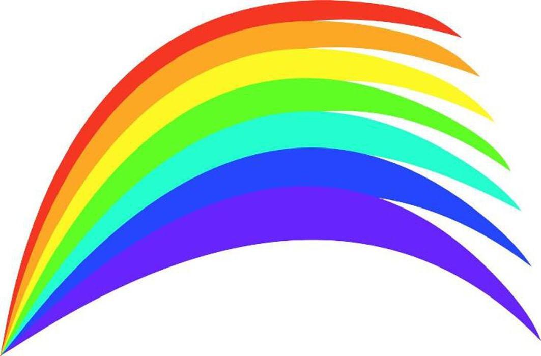 Картинка для детей радуга только красной и оранжевой дугой