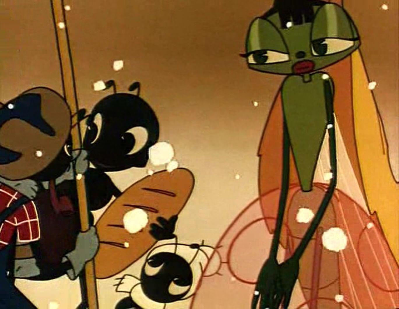 Кадры из мультфильма «Стрекоза и муравей» (1961)