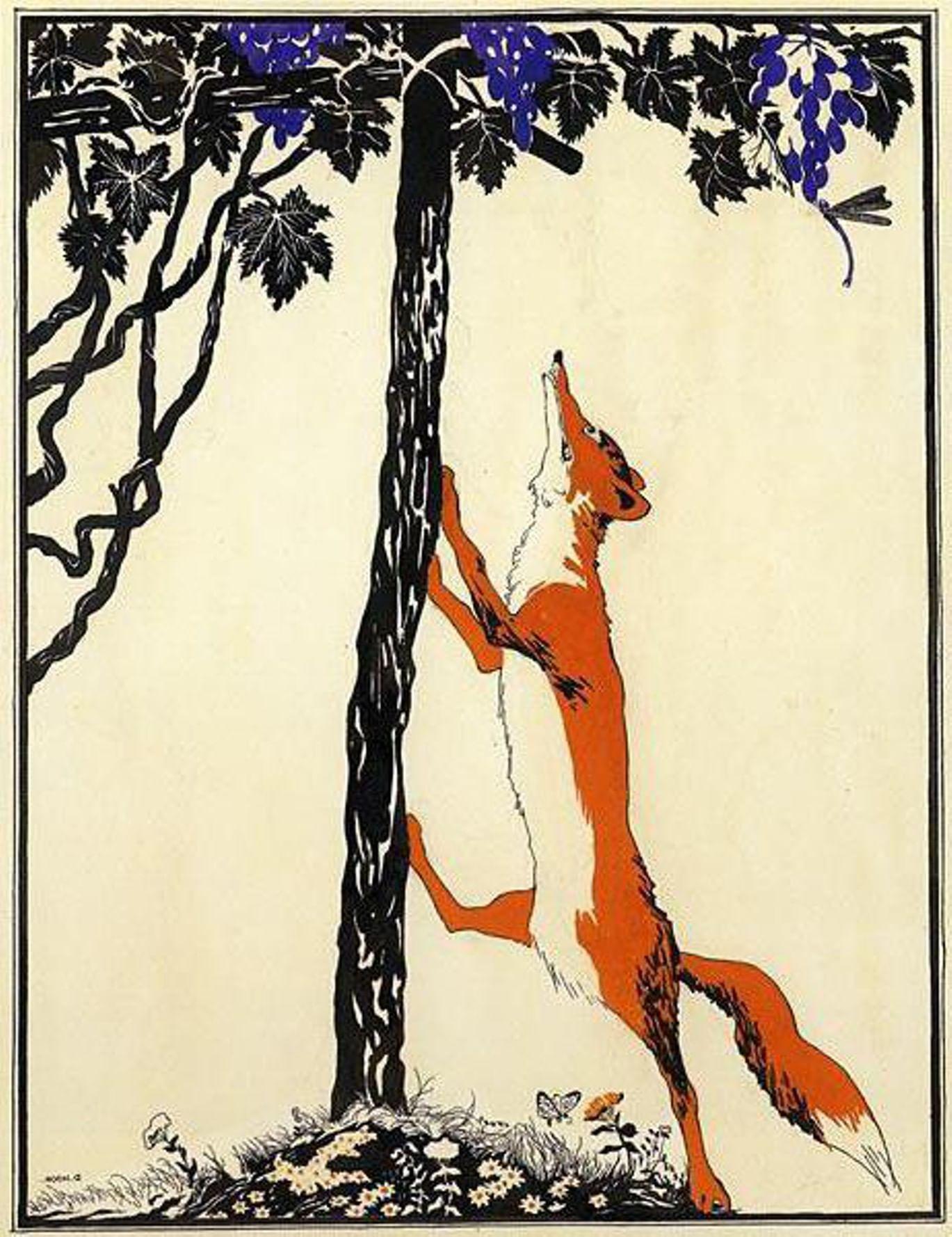 Виноград и лисица картинки