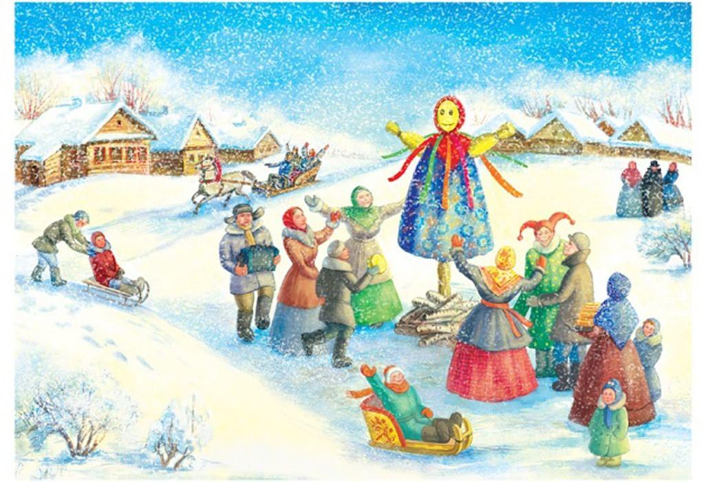 Открытки, картинки народных праздников для детей