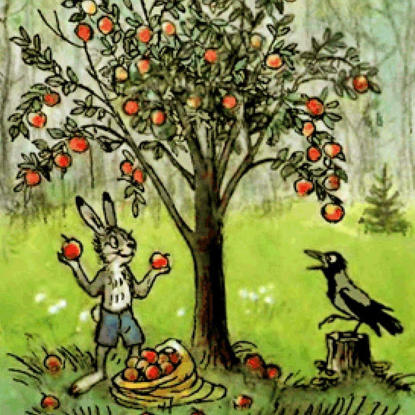 Иллюстрации к сказке сутеева мешок яблок