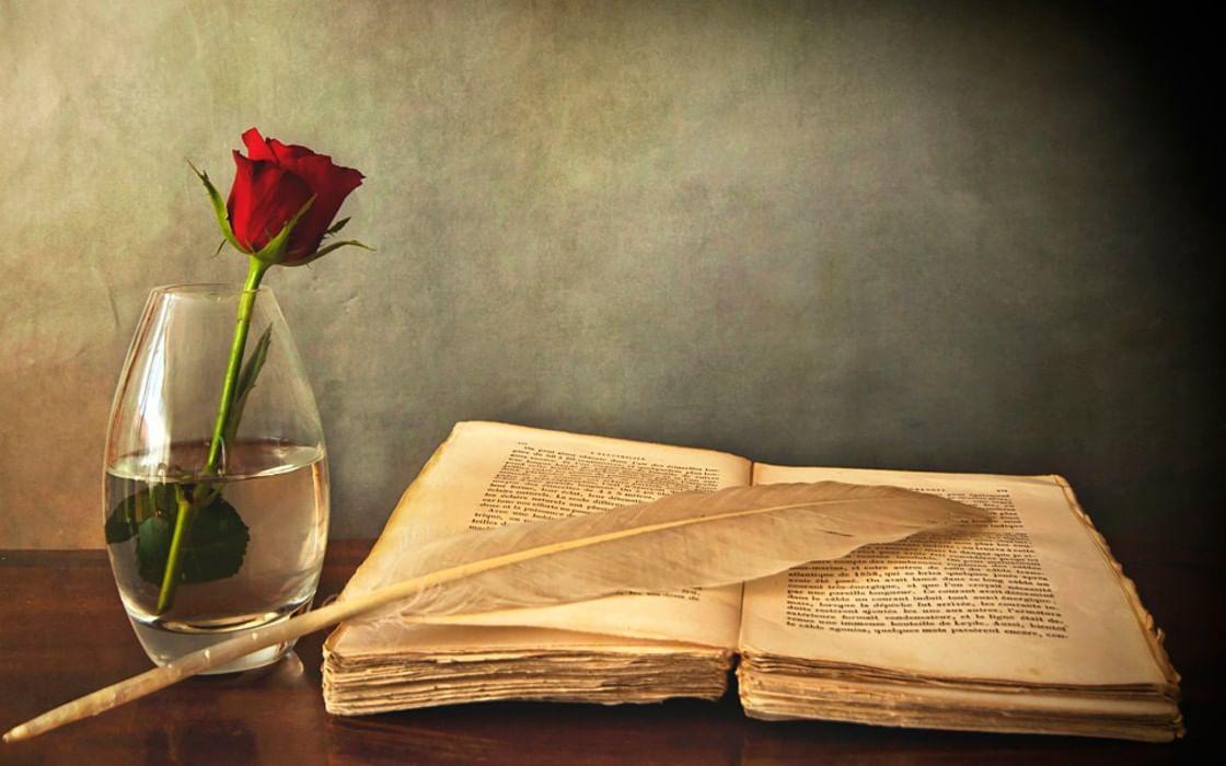 Открытка на день рождения поэта, цветного картона бумаги