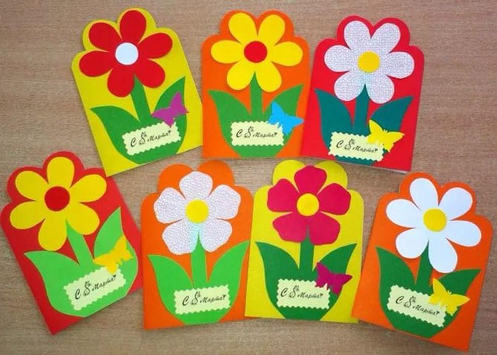 Картинка прикольная, открытки к 8 марта дети 3 лет