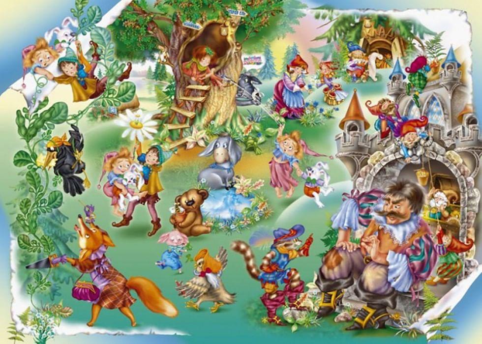 Герои всех сказок на одной картинке